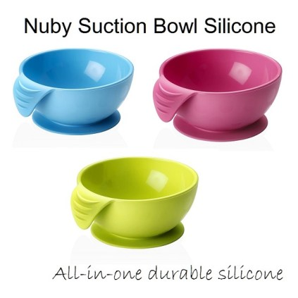 nuby suction bowl silicone all color