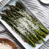 Roasted Asparagus with Balsamic Vinegar & Parmesan