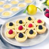 Lemon Tartlets with Lemon Curd
