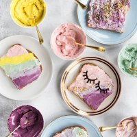 Unicorn Toast with Natural Food Dyes