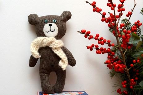 teddy bear handmade AsiekArt
