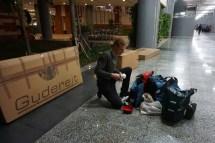 alles angekommen am Flughafen in Denpasar