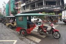 Motorrad-Taxi-Kutsche in Phnom Penh