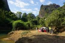 schöner Lagerplatzt bei Thakhek