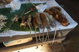 alles, was der Gaumen begehrt auf dem Abendmarkt in Thakhek