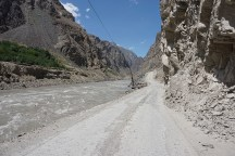 rechts Tadschikistan, links Afghanistan