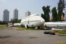 Flugzeugwracks, die zu Wohnraum umfunktioniert wurden - Bangkok
