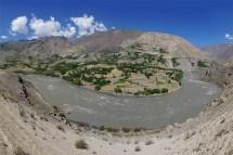 Oasen-Ortschaften im Wakhan Tal