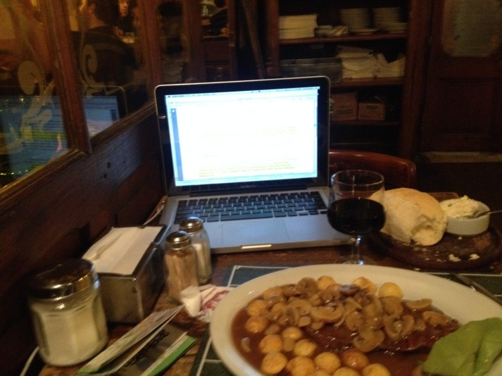 Steak and working, El Federere, San Telmo, Buenos Aires
