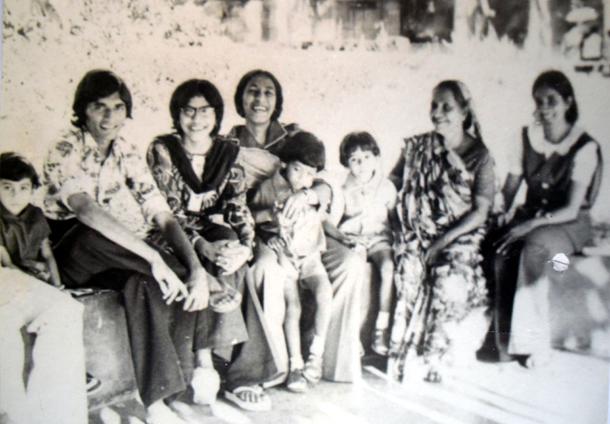 With paternal grandma Safiya and aunts
