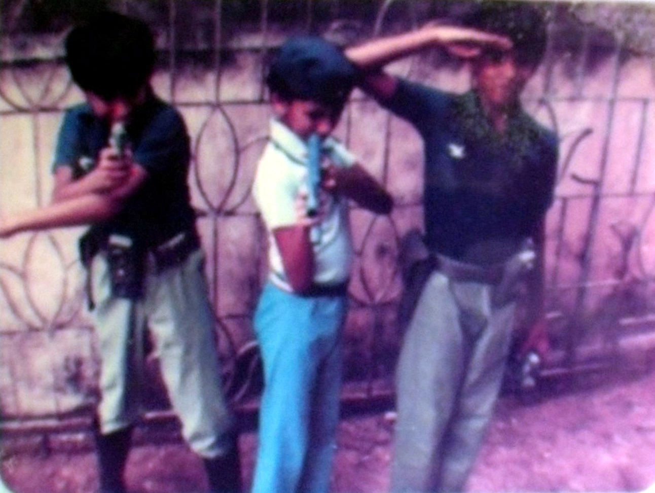 Me and my brothers playing army at Accha House and Sihina Beach Village. Early 1980s
