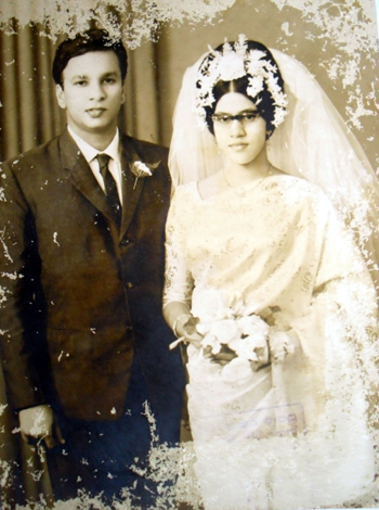 Father & Mother on their Wedding Day