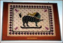 Gajasinha flag of Nuwara Kalaviya