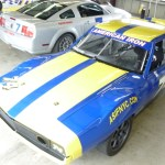 1974 AMC road race Javelin AMX in the garages at Sonoma Raceway