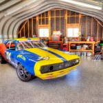 1974 AMC Javelin AMX race car in the new shop