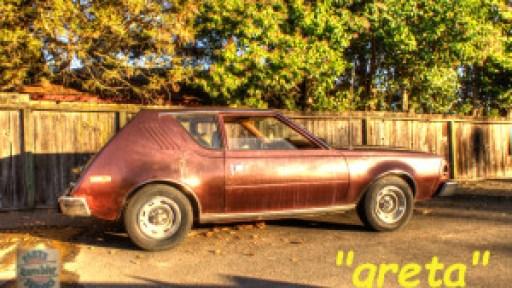 Greta the 1975 AMC Gremlin