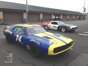 2 AMC Javelin road race cars at Sonoma Raceway March 2015