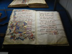 These illustrated manuscripts were choir music - done in large so that they could be read by the whole choir at once.