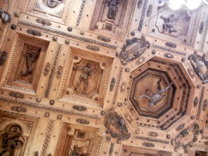 The dissection theater ceiling - one wonders if these are all anatomically accurate.