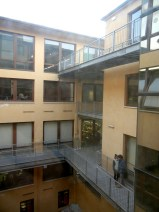 Of course, the modern classroom buildings aren't quite as uplifting on the inside.
