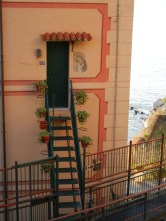 This stair seemed a particularly precipitous entry even for Camogli.