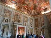 The frescos on the walls and ceilings alone would have made a museum.