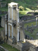 The roman theater is very well preserved.