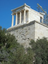 Temple of Athena Nike at the entrance of the acropolis.