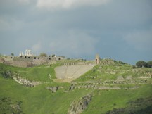 The view of Pergamon across the valley.