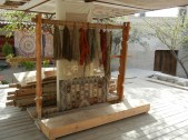 I stumbled across this weaving demonstration in an empty courtyard. I assume its part of a show given to tour bus riders but I found it very beautiful