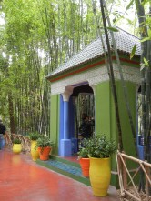 This garden in the ville nouvelle was created by french expat and painter Jacques Majorelle during the French protectorate in the 20's and 30's. After his death it was purchesed by Yves Saint Laurent and made open to the public.
