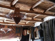 Berber architecture uses wood/reed ceiling construction and is usually left exposed.