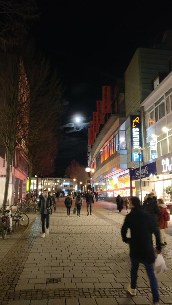 A moon lit night in luisenplatz