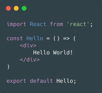 Stateless React JS Component