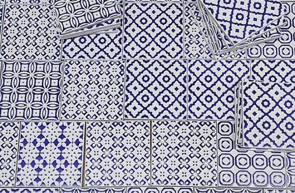 ネイビー。#tiles #mosaic