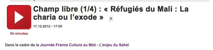 FranceCulture_refugies mali