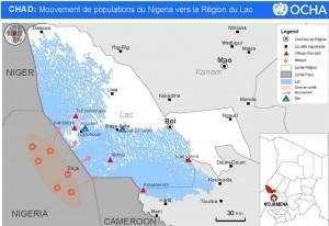 Une carte des îles où se sont réfugiés les Nigérians pour échapper à Boko Haram.