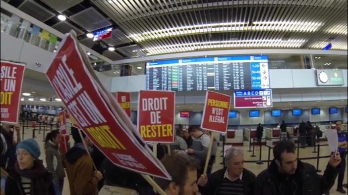 Manifestation Ayop aeroport