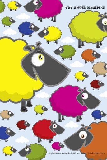 Carte postale des Moutons de garde