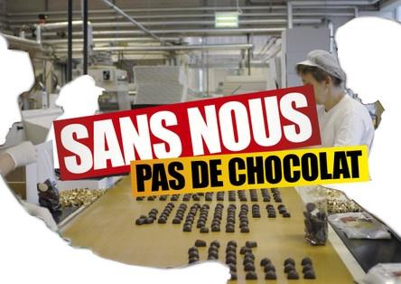 «Sans nous, pas...». Campagne du syndicat UNIA — 2011.
