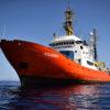 L'Aquarius, navire de sauvetage en mer opéré par SOS Méditerranée et MSF.