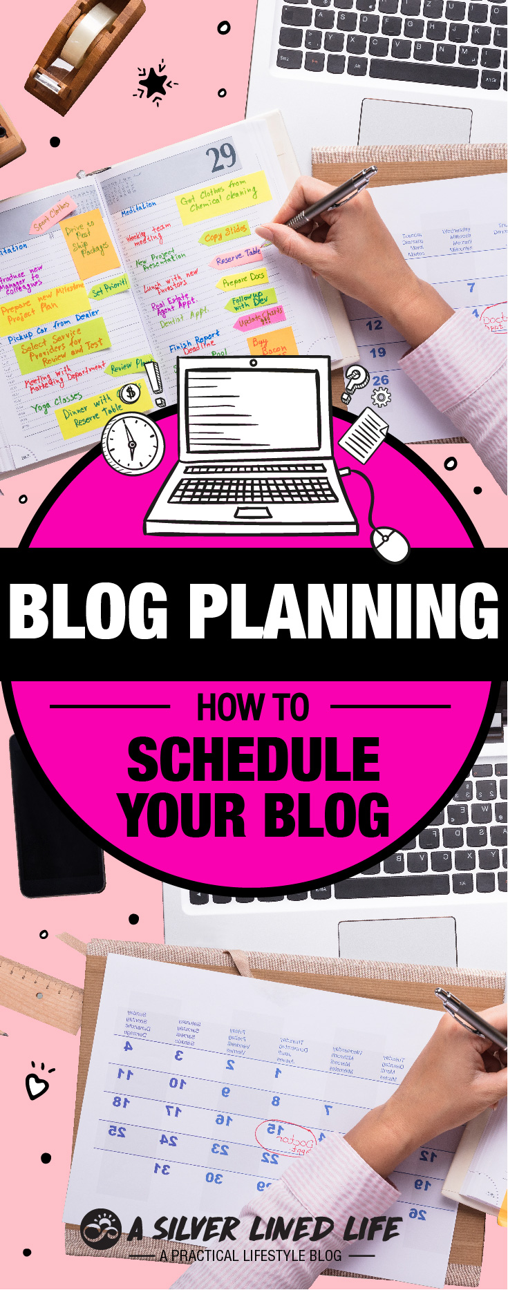 Blog Planning 101: How To Schedule Your Blog - For beginners to advanced bloggers including ideas, a calendar, planner, worksheet and an awesome template. When starting a blog we design it with many ideas and great inspiration but often overlook a blog planner or blog schedule. If your blogging for money, lifestyle, have great topics or posts, you need a plan with a template, daily routines, weekly goals, a calendar, organized posts and ideas as well as structured social media. This website has a spreadsheet link, product and tools that will allow you to track and manage your blog. #SLL