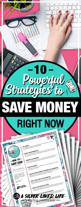 10 Powerful Strategies to Save Money Right Now - Tips and ideas for frugal living you can use to save on groceries, save up for a house, save money in your 20s (the best time!), save money in college and get on a budget. This ten fast hacks will help you accomplish your monthly, biweekly and yearly goals. Save a ton of money on bills and move forward out of debt!!! #SLL