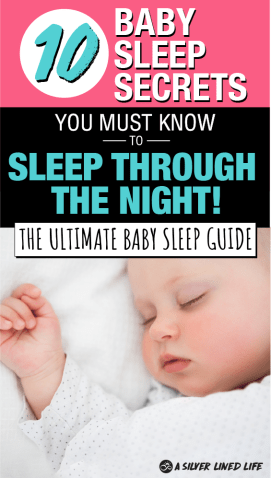 A baby can sleepthrough the night solidly by at least eight weeks of age with solid, easy techniques. With these sleep training, you can get your infants, toddlers, newborns or children on a routine to save your sanity and help everyone get some good quality sleep! #babysleep #sleeptraining #throughthenight #baby #parenting #SLL