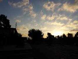 Sunrise on the day of our combinsed service at Concordia Lutheran Church - Cerritos Ca (also home to Passion International Christian Church!)