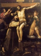 St francis at the cross