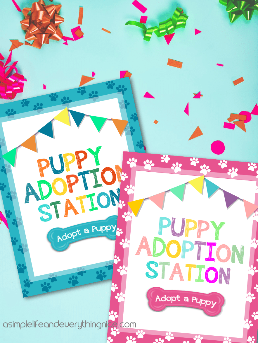 Free Puppy Adoption Certificate And Adopt A Puppy Printable Sign A Simple Life And Everything Nice
