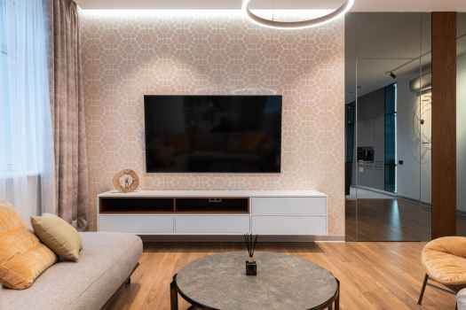 interior of modern living room at home