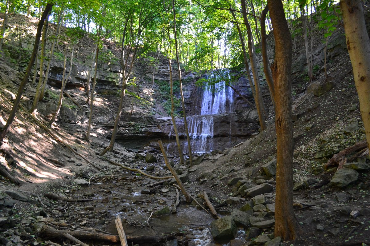 Hiking to Hamilton's Waterfalls