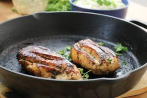 Cast Iron with Honey-Mustard Chicken Breast